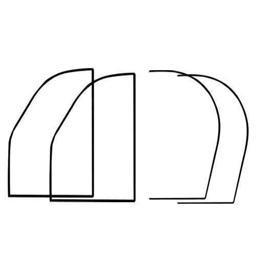 kits joints de portes av et ar 70 et apr s 1er prix 1681 sp cialiste de la. Black Bedroom Furniture Sets. Home Design Ideas